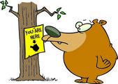 Kreslený přišel medvěd — Stock vektor