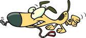 Cartoon dog leash — Stock Vector