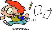 卡通学校的最后一天 — 图库矢量图片