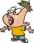 Cartoon kid yelling — Stock Vector