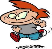 Cartoon boy running — Stock Vector