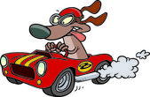 Cartoon hot rod dog — Stock Vector