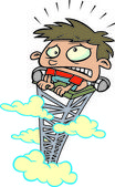 Cartoon fear of heights — Stock Vector