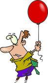 Cartoon balloon float — Stock Vector