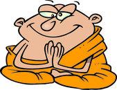 Cartoon Buddhist Monk — Stock Vector