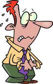 Empresário preocupado dos desenhos animados — Vetor de Stock