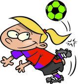Kreskówka piłka nożna gir — Wektor stockowy