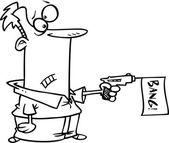 Cartoon Bang Gun — Stock Vector