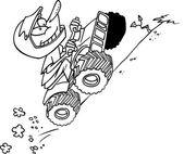 Cartoon ATV — Stock Vector