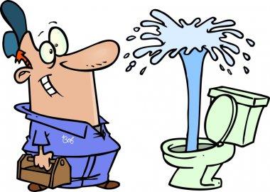 Cartoon toilet gaiser