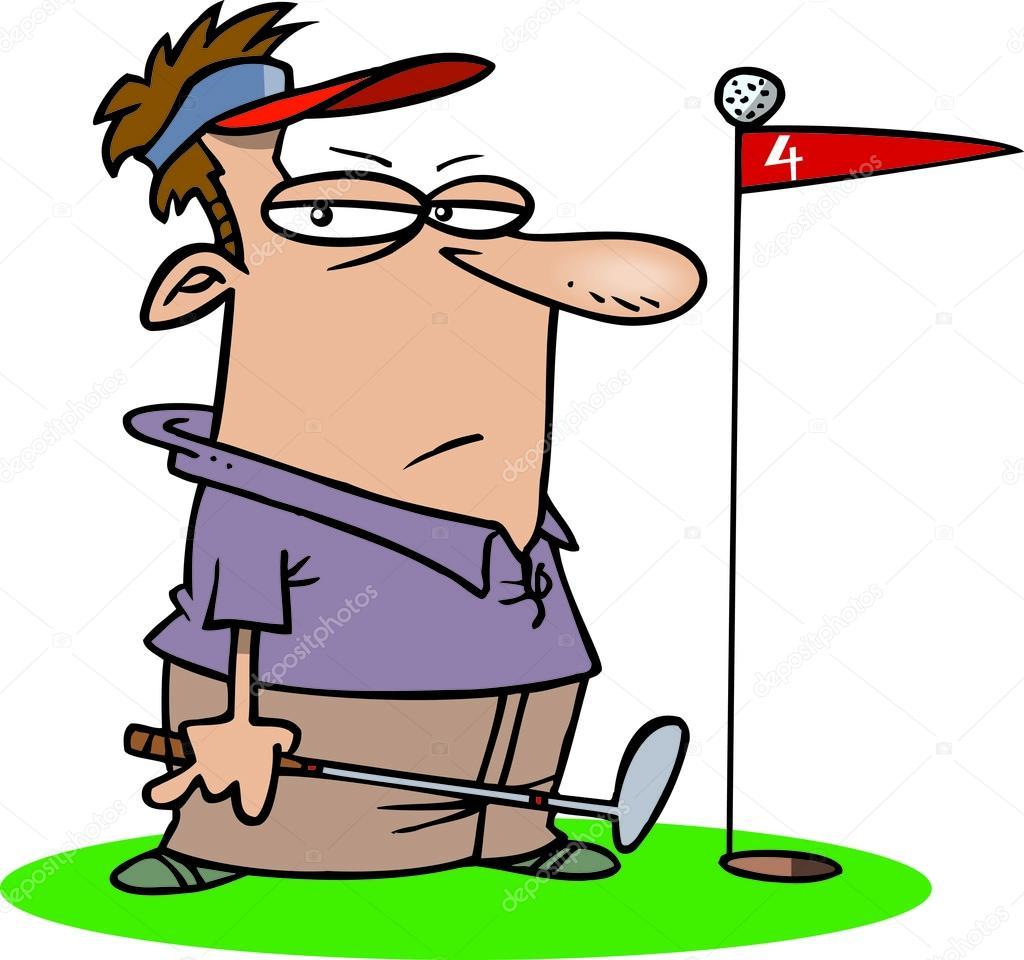 Bad Golfer Cartoon Cartoon Golfer Stock Illustration