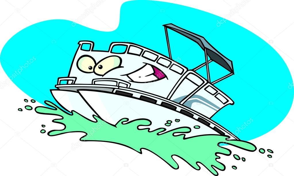 Cartoon Boat On Water