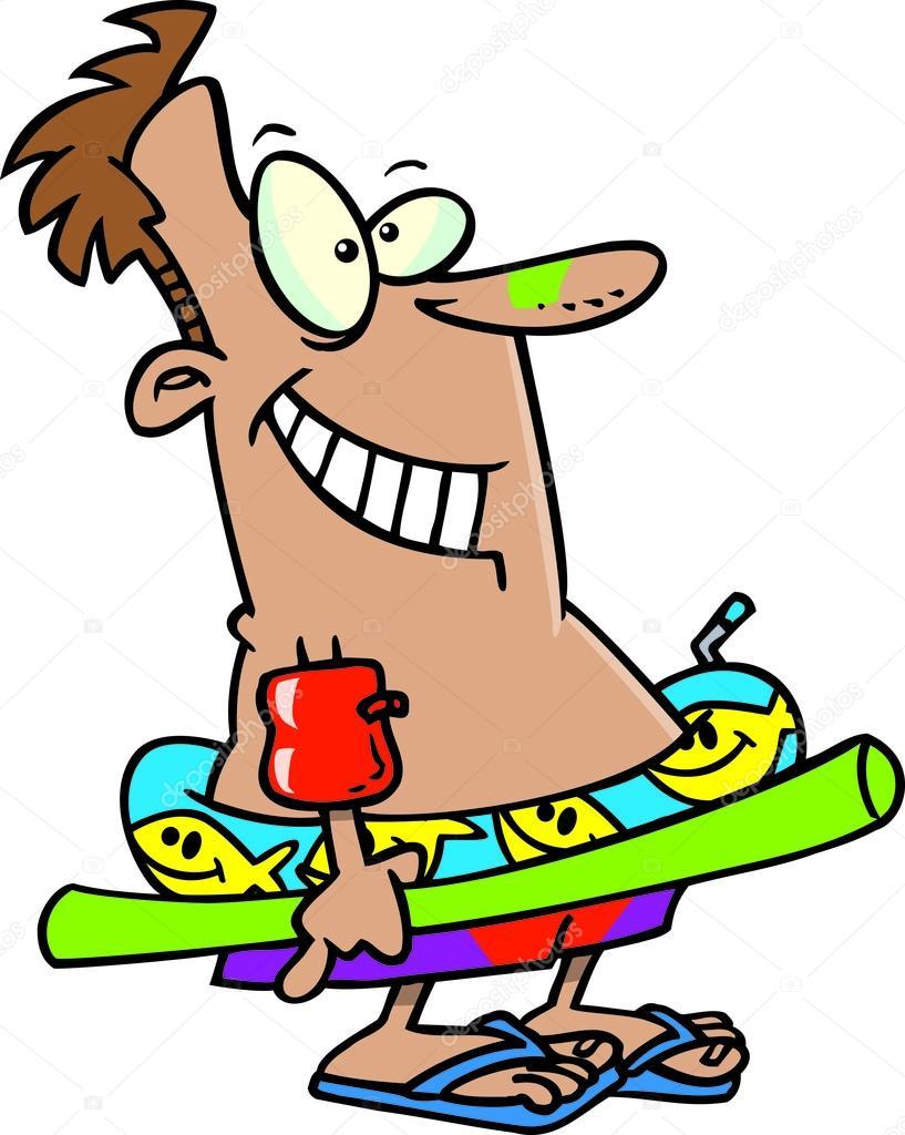 Cartoon Man In Kiddie Pool Stock Vector 169 Ronleishman