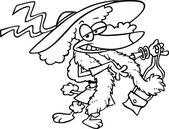 Caniche femelle de dessin animé — Vecteur