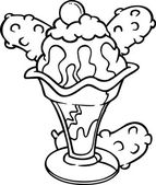 Cartoon icecream — Stock Vector