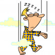 Stock Vector: Cartoon Sleepwalker