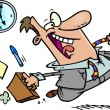 Cartoon Quitting Time — Imagen vectorial