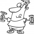 Cartoon Man Exercising — Imagen vectorial