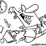dessin animé temps de cesser de fumer — Vecteur