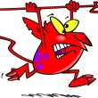 Cartoon Little Devil — Vector de stock #13982326