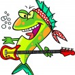Cartoon Rocker Fish - Stock Vector