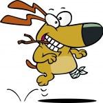 Cartoon Dog Tripod — Stock Vector