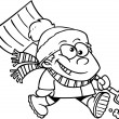 Royalty-Free Stock Vektorov obrzek: Cartoon Boy with Snow Shovel