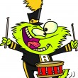 Cartoon Monster Drums - Image vectorielle