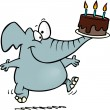 Cartoon Elephant Birthday — Stock Vector #13983697