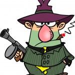 Cartoon Gangster — Stock Vector