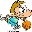 Stock Vector: Cartoon Basketball Boy