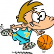 Cartoon Basketball Boy — Stock Vector #13983738
