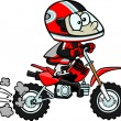 Cartoon Boy Minibike - Stock Vector