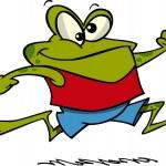 Cartoon Frog Jogging — Stock Vector #13983821
