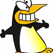 Royalty-Free Stock Vector Image: Cartoon Happy Penguin