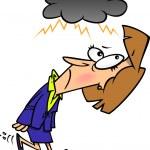 Cartoon Overcast Woman — Stock Vector #13984113
