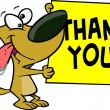 Cartoon Dog Thank You Sign — Stock Vector #13984213