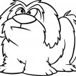 Stock Vector: Cartoon Shaggy Dog