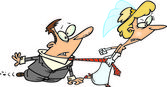 Cartoon Bride and Groom — Stock Vector