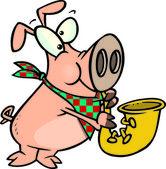 Cartoon Pig Playing Saxophone — Stock Vector