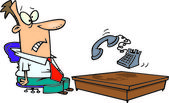 Cartoon Phone Ringing Off the Hook — Stock Vector