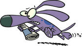 Cartoon Dog Fetching Newspaper — Stock Vector