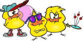 Cartoon Chick Peeps — Stock Vector