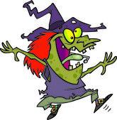 Cartoon Witch Dancing — Stock Vector