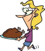 Cartoon Turkey Dinner — Stock Vector