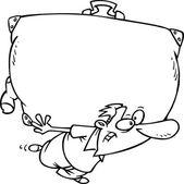 Cartoon Luggage — Stock Vector