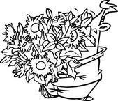 Cartoon Big Bouquet — Stock Vector
