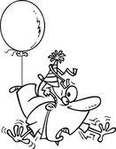 Cartoon Birthday Awry — Stock Vector