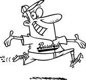 Cartoon Baseball Homerun — Stock Vector