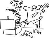 Kreslené whatzit nástroj — Stock vektor